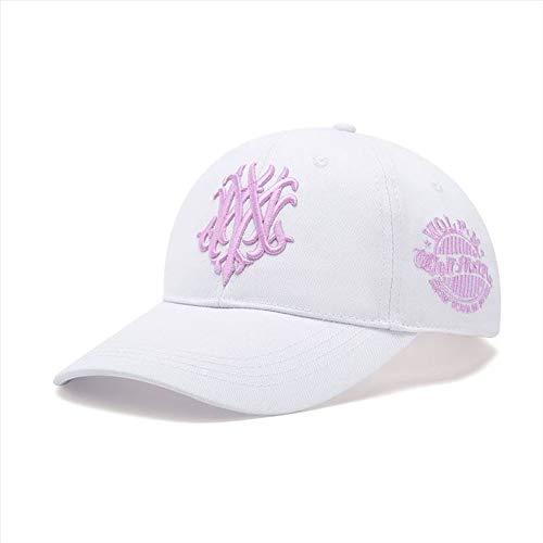 Long HatBaseballmütze M Wolf 7 Generation koreanische Version der Kappe Frühling und Herbst Männer großen Kopf Hut weiß mit rosa M kann 55-58cm eingestellt Werden (Disney Osmanischen)