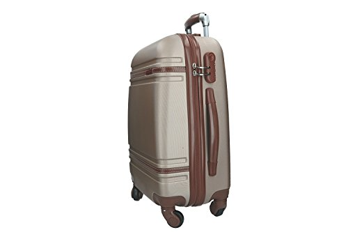 31PsLgmrUOL - Maleta rígida PIERRE CARDIN oro mini equipaje de mano ryanair 4 ruedas VS164