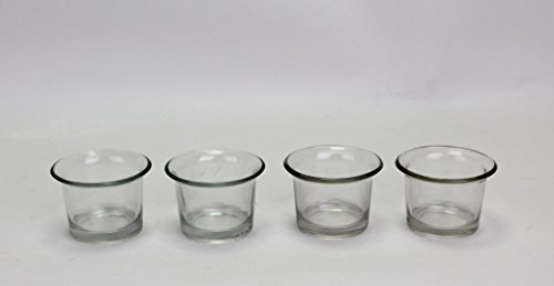 Hosley Set of 4 Glass Cups