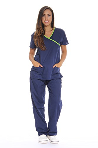 Just Love Damen Peeling-Set Medizinische Peelingtücher - - Groß (Medical Uniform Top Und Hose)