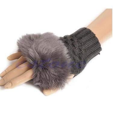 JOYKK Winter Arm Warmer Fingerlose Handschuhe Strickhandschuhe Mitten - Deep Grey
