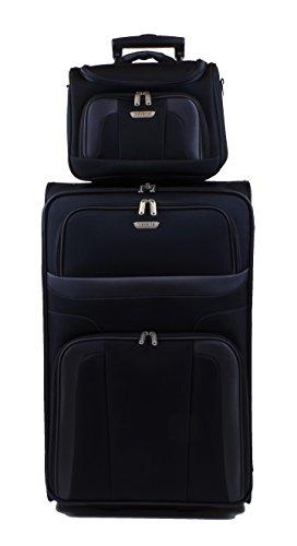 Travelite Orlando Trolley 73 cm + Beauty Case in 3 Farben (Schwarz) -