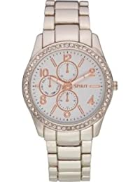 Spirit Women's Quartz Watch with White Dial Analogue Display and Silver Bracelet ASPL64
