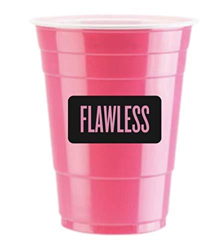 Bechern Flawless Logo 50 x Pink Cups - Beer Pong American Party tassen Original 500 ml - Student & Geburtstag | 16oz Große Plastik Becher Trink Glas Einweg Geschirr ()
