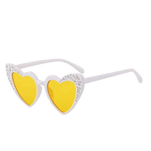 Kjwsbb Sonnenbrille Kinder Strass Herzförmige Sonnenbrille Mädchen Nette Brille Brillen Geschenk Für Baby