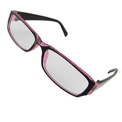 Schwarz-Rosa Vollrand Rahmen Brillen klare Linse Gläser