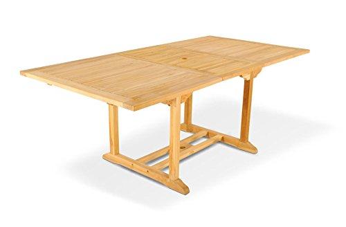 Teak Gartentisch Teaktisch Tisch Auszugstisch 150 - 200 cm Gartenmöbel