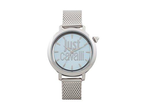 Just Cavalli Damen Analog-Digital Quarz Uhr mit Edelstahl Armband JC1L007M0055