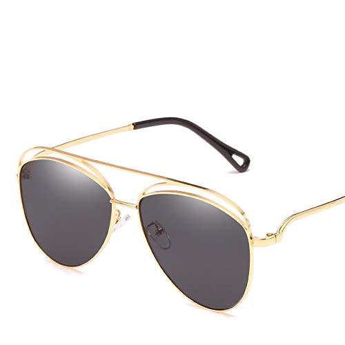 YUHANGH Vintage Gold Metall Sonnenbrille Männer Frauen Sonnenbrille Weibliche Mode Brillen Fahren Brillen