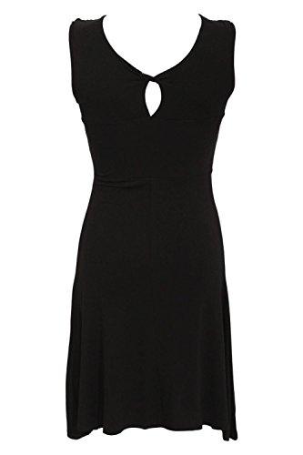 PILOT® ärmelloses Twist Front Kleid in schwarz Schwarz