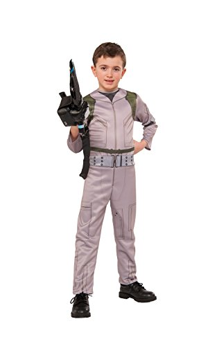 Official Ghostbusters 2016 Boys Costume Jumpsuit - Ages 3 to 10 - with inflatable Proton Wand