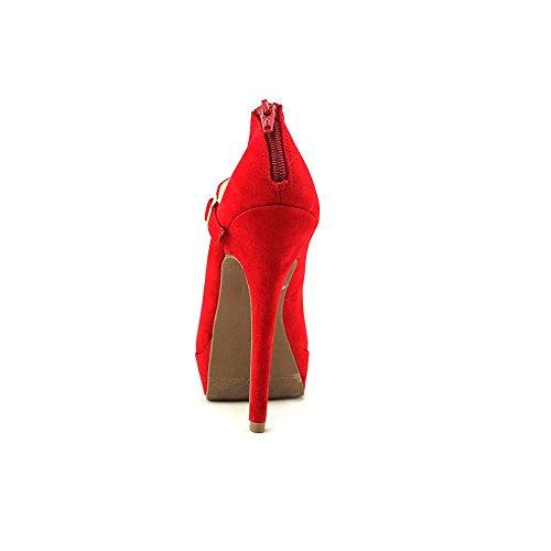 Material Girl Koko Toile Talons Compensés red