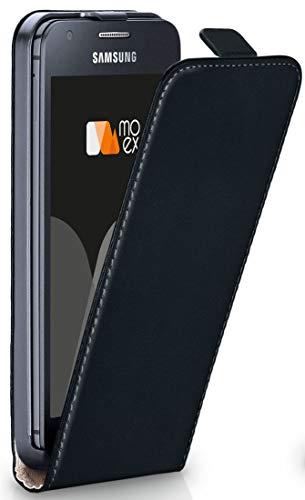 moex Samsung Galaxy Ace Style | Hülle Schwarz 360° Klapp-Hülle Etui Thin Handytasche Dünn Handyhülle für Samsung Galaxy Ace Style Case Flip Cover Schutzhülle Kunst-Leder Tasche