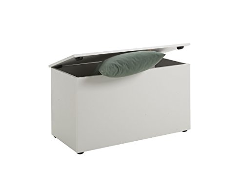 FMD Möbel Sitztruhe Hocki 2, weiß, 80x40x45cm - 2