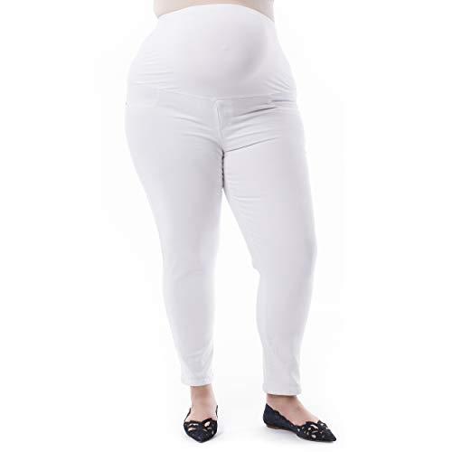 Rosie Pope Damen Pip N Vine by Over Belly Skinny Denim Pants Unterbekleidung, Hose, weiß, 3X Plus -