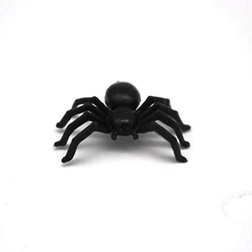EROSPA® 50 Stück Schwarze Spinnen für Party-Dekoration | Halloween - Grusel - Horror | 2,5 x 1,5 x 0,7 cm - 7