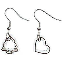 Plätzchenausstecher Ohrringe Ausstecher Förmchen Plätzchen Weihnachten Baum Herz