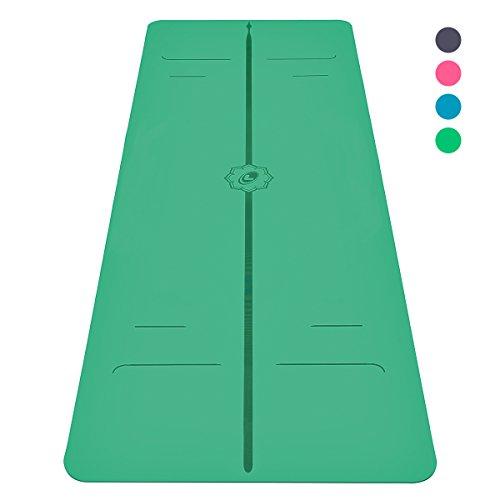 """Die Liforme EVOLVE Yogamatte – Die beste umweltfreundliche, rutschfeste Yogamatte der Welt mit dem ORIGINAL-""""Unique Alignment Marker System"""" - Grün (Marker-matten)"""