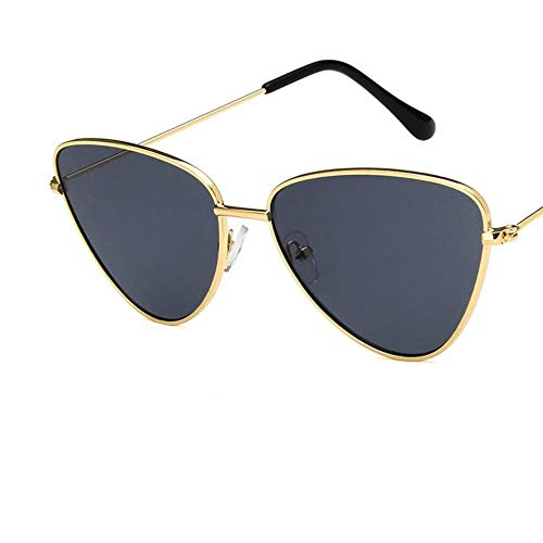 Sonnenbrille Vintage Sexy Golden Grey Lady Cat Eye Sonnenbrille Frauen Mode Klare Rote Brillen Sonnenbrille Mit Metallrahmen Für Weibliche Uv400