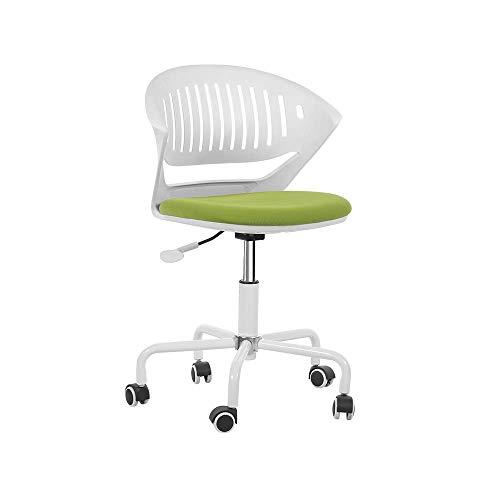 JHESHENG Stühle Sofas Hocker ergonomischer Bürostuhl, Schwenken, Schreibtischstühle mit Verstellbarer Sitzhöhe für Konferenzraum 3 Farben Home Büromöbel (Farbe: Schwarz) - Grün -