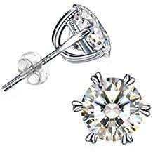 Orecchini, J.Rosée 925 in argento sterling con orecchini a forma di cuore con zirconi 5A con bellissimo packaging, Regalo di Festa