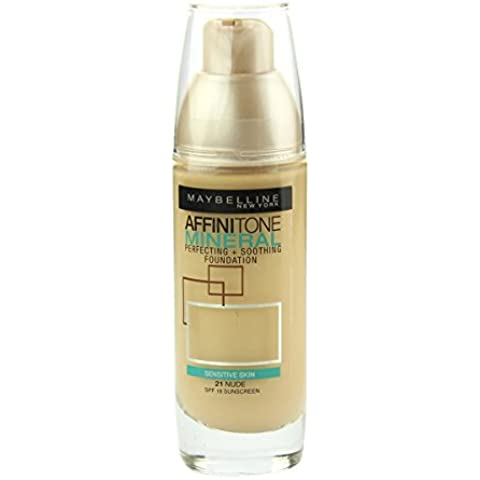 Maybelline Affinitone Mineral Foundation SPF18 30ml - 021 Nude by (Maybelline Mineral Foundation)