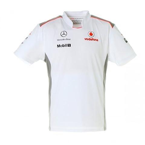 Vodafone McLaren Mercedes 2012 Men's Team Crew Neck T-Shirt Top Size Large