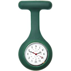 Nurses Silicone Gel Fob Watch in Dark Green