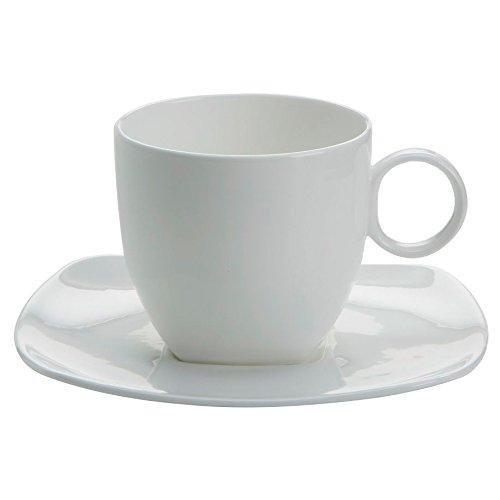 Tasse mit Untertasse 250 ml CASHMERE square / Maxwell & Williams / Bone China / Kaffeetasse / Teetasse Williams Cashmere Bone China