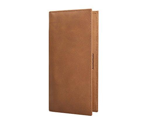 ZXDOP Brieftasche Männer Leder Brieftasche Retro Herren Zipper Lange Dünne Herren Leder Brieftasche ( farbe : 8# ) 1#