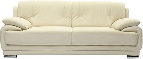 FabHomeDecor Rocco Double Seater Sofa (Cream)
