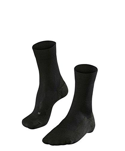 FALKE Herren Golfsocken GO2, Baumwollmischung, 1 Paar, Schwarz (Black 3000), Größe: 44-45