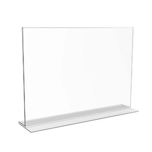 Displaypro Perspex Feuille A4 Paysage en acrylique transparent Double face Menu Porte-affiche de comptoir avec support-LIVRAISON GRATUITE!