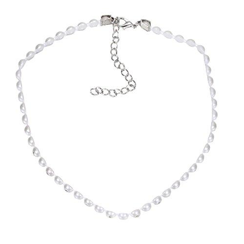 Tpocean Simulated Weiß Perle Choker Halsband Halskette für Frauen Mutter