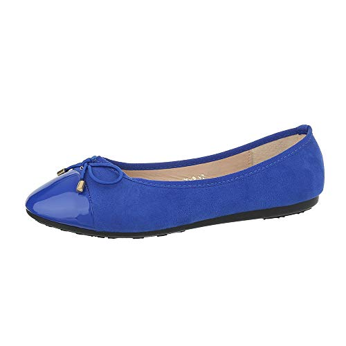 Ital-Design, Balletto Donna, Blu (Blau 3c-2-), 38 EU