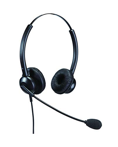 Affordable Double Ear Noise Cancelling Office/Call Centre Headset With  U10P-S Bottom Cable For Yealink SIP-T19P T20P T21P T22P T26P T28P T32G T41P