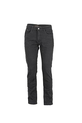 Pantaloni 5 tasche in twill foderati in pile grigio, 54