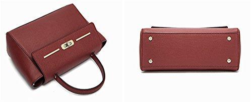 Xinmaoyuan Borse donna estate vera pelle donna borse tracolla messenger bag,vino rosso Vino rosso
