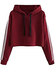 Fabricorn Plain Maroon Sweatshirt Hoodie for Women (Maroon)