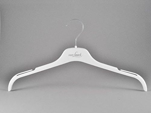 von Laack van Kleiderbügel für Blusen & Kostüme, 43cm, weiß, 10 Stück (Weiße Van Kostüm)