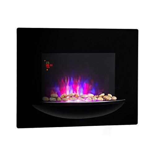 Klarstein Brasero Chimenea eléctrica de Pared • 1800 W • Calefactor eléctrico...