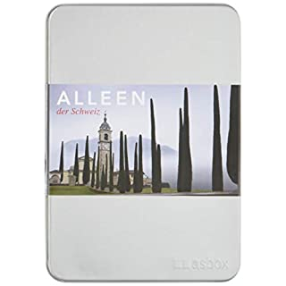 Alleen der Schweiz: Alubox mit 50 Postkarten