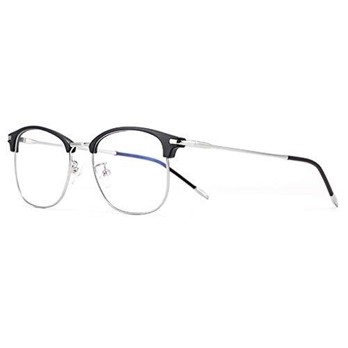 MMZZ Magnifier Progressive Multifokusbrille, 3-stufige Sichtlesebrille, Anti-Blaulicht-Computerleser für Herren und Damen