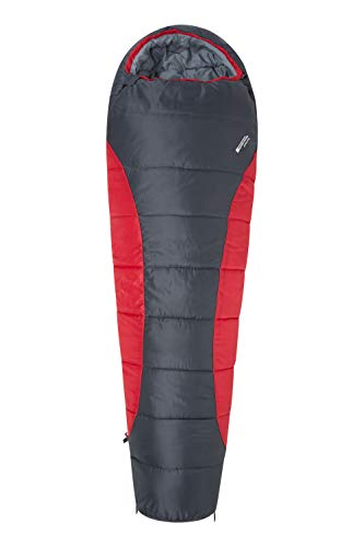 Mountain Warehouse Saco de Dormir Summit 300-23 x 41 cm - Cómodo, Saco de Dormir cálido Rojo Right Handed Zip