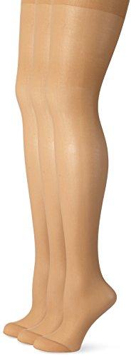 Ulla Popken Große Größen Damen Weites Bein Strumpfhose Strumpfhose, 3er Helanca 668121, 20 DEN, Gr. XXXXX-Large (Herstellergröße: 60+), Beige (Teint 26) (Strumpfhosen Mikrofaser Größe Plus)