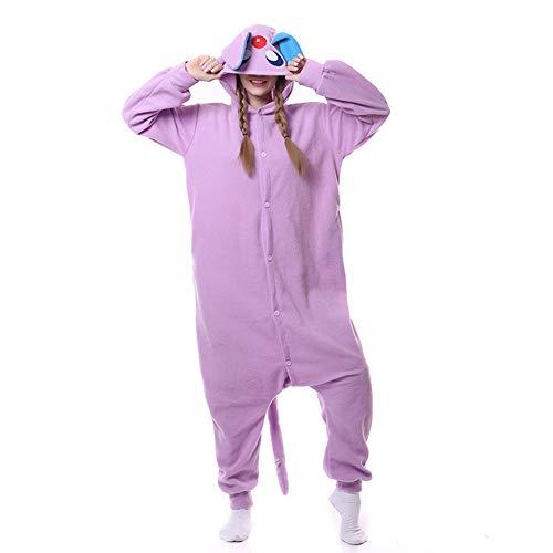 Karneval Onesies Pyjamas Bekleidung Animal Erwachsene Unisex Schlafanzüge Cosplay Jumpsuits Anime Carnival Violett Sonne Elfen Elf Spielanzug Kostüme Weihnachten Halloween Nachtwäsche Herren (Weihnachten Elfen Kostüm)