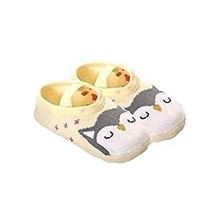 Auplew Calcetines de Piso, 1 par Calcetines de algodón Antideslizantes Calcetines de Dormir para bebés y niños pequeños Calcetines para Dormir Niños Animal Lindo 14