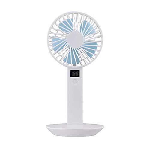 LINGYAO Mini Ventilador con Pantalla Multifunción Silencioso De Cinco Hojas Ventilador de...