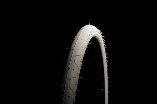 CURIO UK LS077 Slick-Reifen für Mountain-Bikes, 26x2,10Zoll, Reinweiß