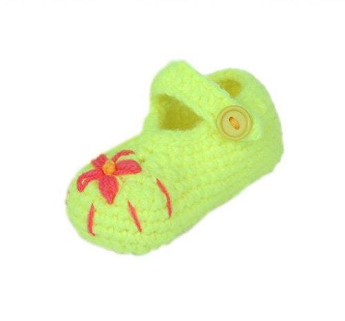 Smile YKK 0-12 mois Bébé Chaussure Tricot Motif Chaud Souple Pantoufles A la main Vert